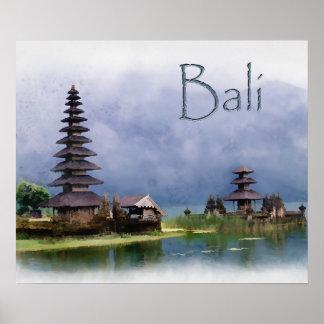 Lake Bratanan Bali Indonesia Poster