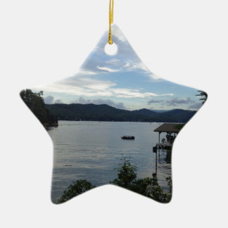 Lake Burton View Christmas Ornament