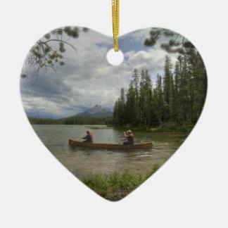 Lake Canoeing Christmas Ornament