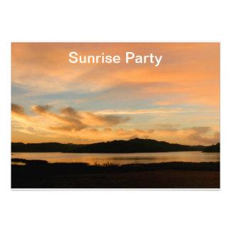 Lake Casitas Sunrise Custom Invitation
