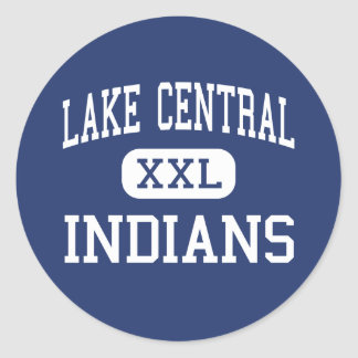 Lake Central - Indians - High - Saint John Indiana Classic Round Sticker