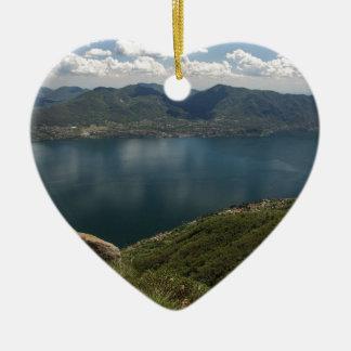 Lake Ceramic Heart Decoration