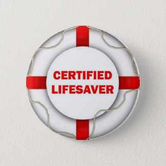 Lake Certified Lifesaver 6 Cm Round Badge