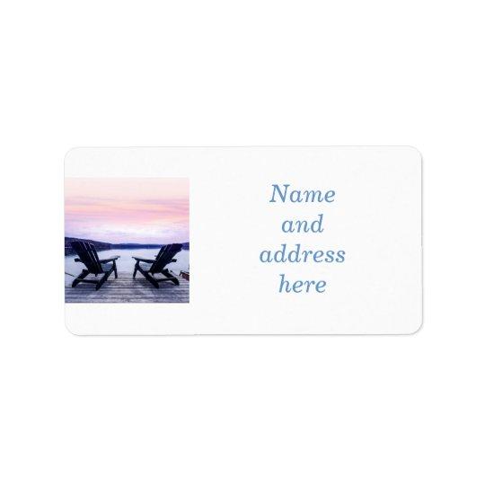 Lake chairs label