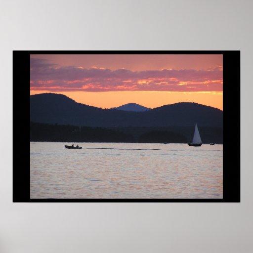 Lake Champlain Sunset Poster