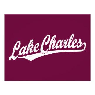 Lake Charles script logo in white distressed 21.5 Cm X 28 Cm Flyer