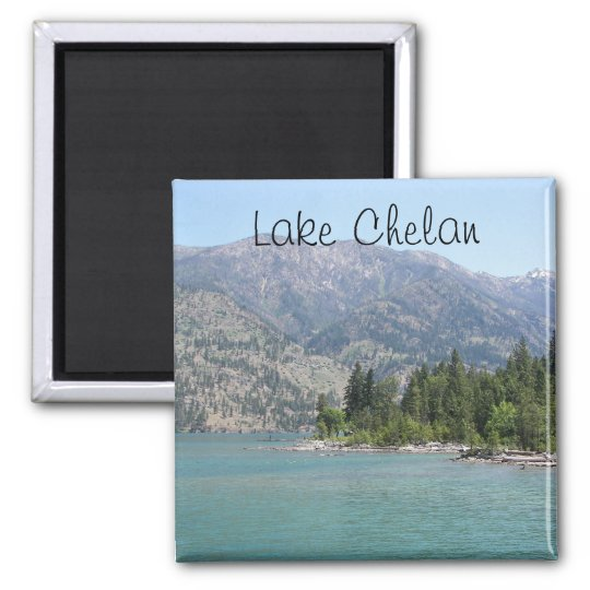 Lake Chelan Travel Photo Square Magnet