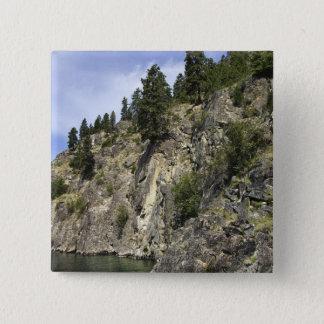Lake Chelan, Washington 15 Cm Square Badge