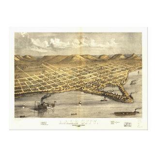 Lake City, Wabasha County, Minnesota (1867) Stretched Canvas Prints