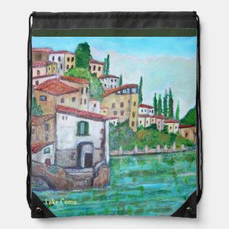 Lake Como, Drawstring Backpack