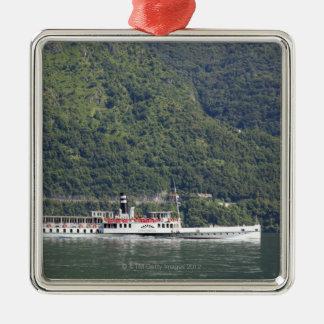 Lake Como, ferry boat Christmas Ornament