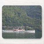 Lake Como, ferry boat Mouse Pad