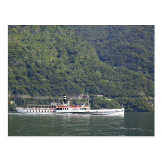 Lake Como, ferry boat Postcard
