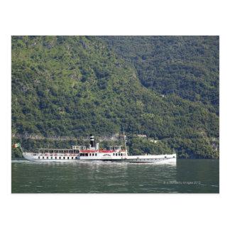 Lake Como, ferry boat Postcard