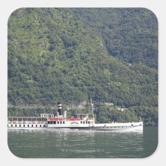 Lake Como, ferry boat Square Sticker