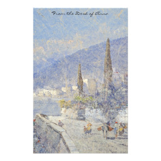 Lake Como Italy Boats Summer Stationery