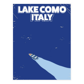 lake como itlay travel poster postcard