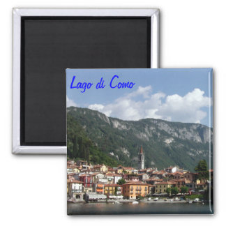 Lake Como Square Magnet