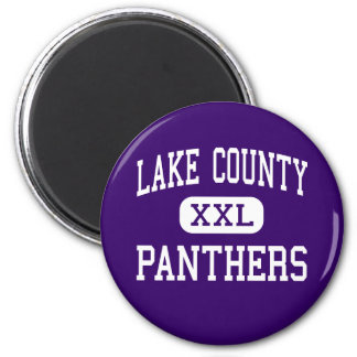 Lake County - Panthers - Senior - Leadville 6 Cm Round Magnet