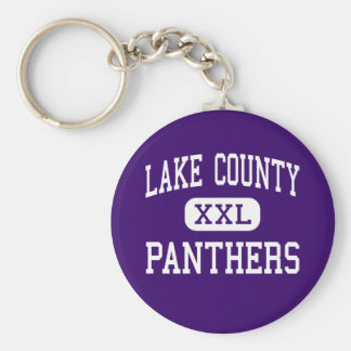 Lake County - Panthers - Senior - Leadville Basic Round Button Key Ring