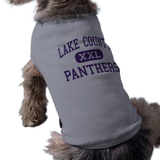 Lake County - Panthers - Senior - Leadville Pet T Shirt