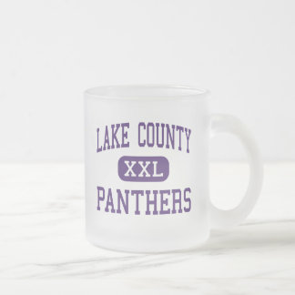 Lake County - Panthers - Senior - Leadville Frosted Glass Mug