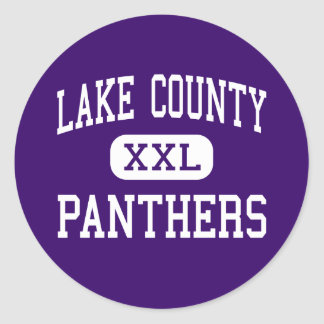 Lake County - Panthers - Senior - Leadville Classic Round Sticker