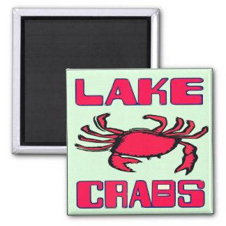 Lake Crabs Square Magnet