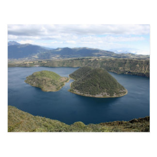 Lake Cuicocha - A Volcanic Crater Lake in Ecuador Postcard