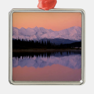 Lake Denali Sunrise Wonder Alaska Christmas Ornament