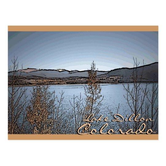 Lake Dillon Colorado scenic artistic postcard
