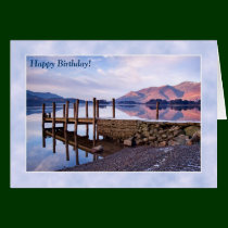 Lake District Birthday Card - Derwentwater