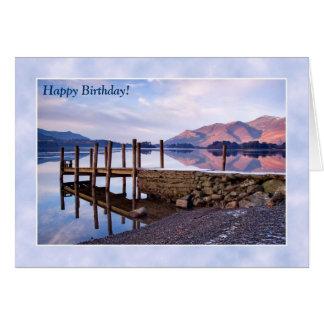 Lake District Birthday Card - Derwentwater