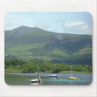 Lake District Mountain & boats Mouse Mat