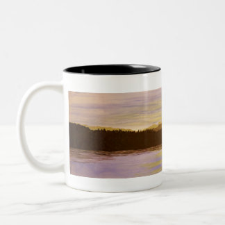 lake District Sunset Painting by Heidi Piercy Two-Tone Coffee Mug