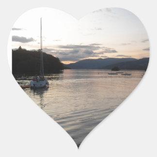 Lake District Windermere Lake Heart Sticker