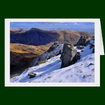 Lake District Winter - view from Red Screes Greeting Card