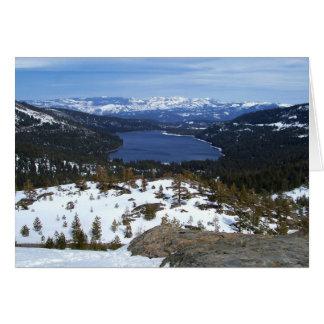 Lake Donner Greeting Card