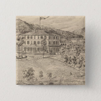 Lake Dunmore House in Salisbury 15 Cm Square Badge