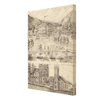 Lake Dunmore House in Salisbury Canvas Print