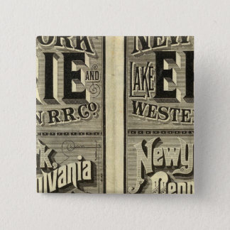 Lake Erie and Western Railroad 15 Cm Square Badge