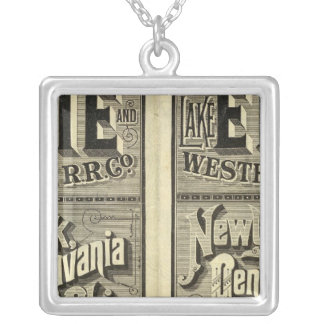 Lake Erie and Western Railroad Silver Plated Necklace