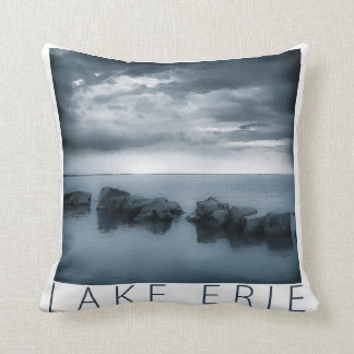 Lake Erie - Clouds and Rocks Cushion