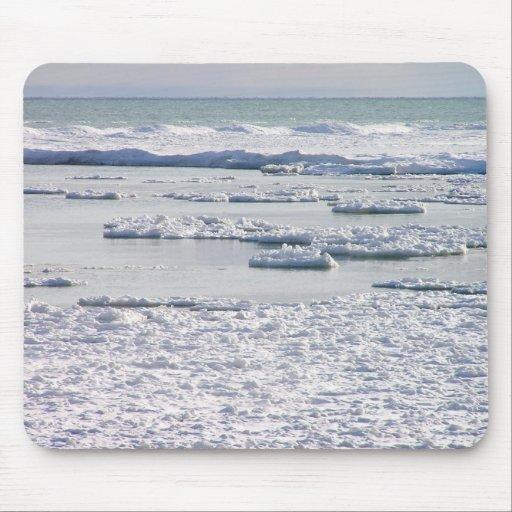 Lake Erie Ice Mousepad