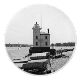 Lake Erie Lighthouse Ceramic Knob