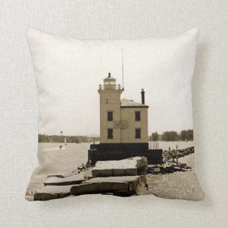 Lake Erie Lighthouse Cushion