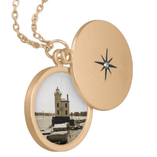 Lake Erie Lighthouse Personalized Necklace