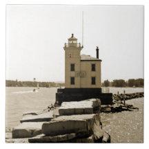 Lake Erie Lighthouse Tiles