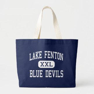 Lake Fenton - Blue Devils - High - Linden Michigan Tote Bags