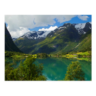 Lake Floen scenic, Norway Postcard
